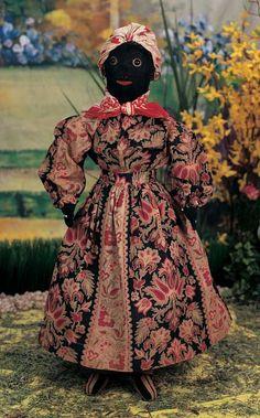 Let The Little Lambs Play : 138 American Black Cloth Folk Doll with Original Costume Black Queen, Paper Dolls, Art Dolls, Dolls Dolls, Antique Dolls, Vintage Dolls, Diy Rag Dolls, Santa Doll, African American Dolls