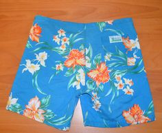 vintage 80s surf line original JAMS shorts floral by skippyhaha