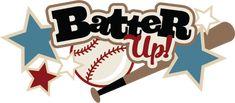 Batter Up SVG scrapbook title baseball svg files baseball svg cut files free svgs free svg cuts