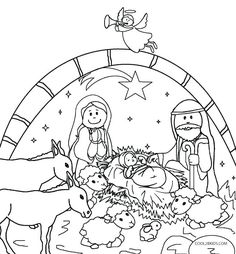Free Nativity Coloring Pages To Print Preschool Christmas