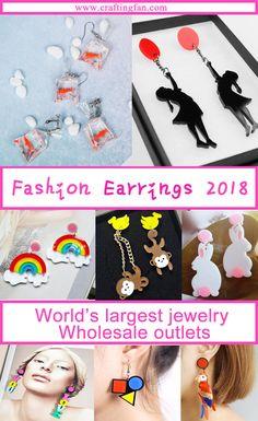 Plastic Earrings, Kids Earrings, Wholesale Outlet, Wholesale Jewelry, Beach Fashion, Women's Fashion, Jewelry Trends, Fashion Earrings, Happy Shopping
