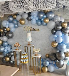 Our baby Marcus' Christening and First Birthday celebrations 💙 Baptism Party Decorations, Baby Shower Decorations For Boys, Boy Baby Shower Themes, Baby Shower Balloons, Balloon Decorations, Birthday Decoration For Boy, Baby Boy Baptism, Baby Boy 1st Birthday, Free Birthday