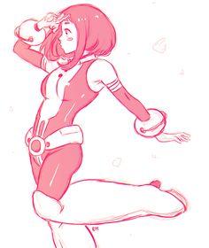 "Uraraka Ochako by rivertem @Tumblr.com  ""Doodles of this sweet girl!!"""