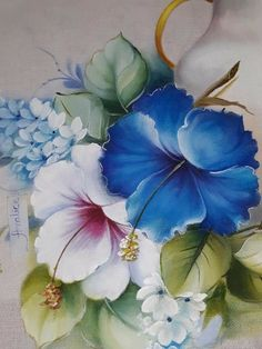 For Rehana rida Oil Painting Flowers, China Painting, Fabric Painting, Watercolor Paintings, Watercolour, Art Floral, Fabric Paint Designs, Acrylic Canvas, Colorful Drawings