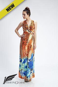 Vestido tiras naranja