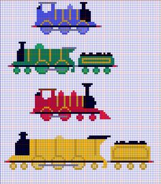 Cross Stitch Steam Train Templates by Quina-chan on DeviantArt Christmas Train, Christmas Cross, Christmas Stocking, Counted Cross Stitch Patterns, Cross Stitch Charts, Mini Cross Stitch, Cross Stitch Train, Train Template, Deviantart