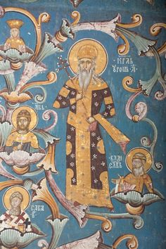 Monastery Decani : East Wall: 34 The Nemanjic Family Tree Serbian, North Africa, Byzantine, Middle Ages, Fresco, Art Boards, Medieval, Icons, Culture