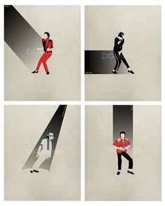 Michael Jackson Minimalist Set 8x10 Print MJ by DIGIartisan