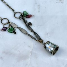 Peter Pan Kiss Thimble Necklace  Vintage Abalone by HooliganAlley, $30.00
