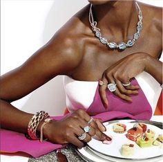 18K White Gold Lyla's Bow Aquamarine Necklace by Vanleles | Moda Operandi  via @VANLELESDIAMONDS from @theststyle