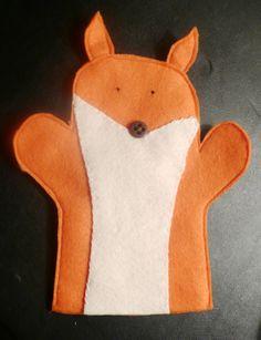 Children's Felt Fox Hand Puppet by KinseyKrafts on Etsy, $5.00