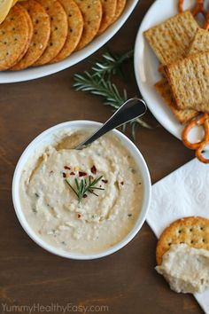 HEALTHY WHITE BEAN DIP     SAVE   PRINT Author: Jen Nikolaus Recipe type: Snacks INGREDIENTS 1 can (15-oz) cannellini beans, drained and rin...