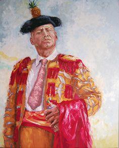 "Hector Mario Ramirez ""Piña"" - Oleo con espátula sobre lienzo - 100 x 75 cm - 2013"