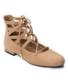Loving this Tan Goodness Suede Flat on #zulily! #zulilyfinds
