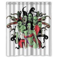 DEYOU Zombie Background Shower Curtain Polyester Fabric Bathroom Shower Curtain Size 60x72 inches