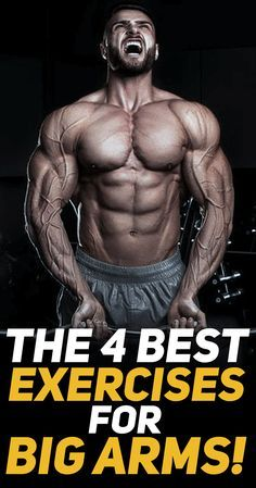 Check out The 4 Best Biceps Exercises for Big Arms! #fitness #gym #exercise #workout #muscle #bodybuilding #fit #fitfam