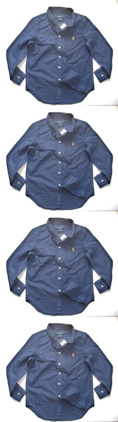 Tops Shirts and T-Shirts 175521: Polo Ralph Lauren Boy Shirt Size S 8 Navy Blue Pony Long S Oxford 100 Cotton Nwt -> BUY IT NOW ONLY: $34.99 on eBay!