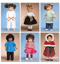 McCall's 6006 Sewing Patterns Clothes for 18-Inch Doll, One Size Only