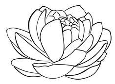 lotus flower - free digital stamps