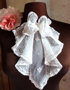 Darling French Antique Art Deco Jabot