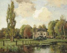 Theophile Emile Achille de Bock (Den Haag 1851-1904 Haarlem) Huize Avegoor in Ellecom - Dutch Art Gallery Simonis and Buunk Ede, Netherlands.