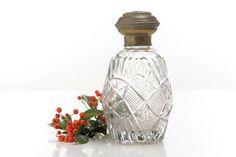 Frasco de perfume antiguo de cristal tallado por Brocantebcn