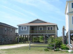 Holden Beach, NC - Sea Witch 495 a 4 Bedroom Oceanfront Rental House in Holden Beach, part of the Brunswick Beaches of North Carolina. Includes Hi-Speed Internet