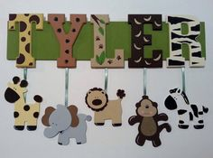 4 LETTER NAME Custom Jungle Safari Zoo Animal by AlbonsBoutique