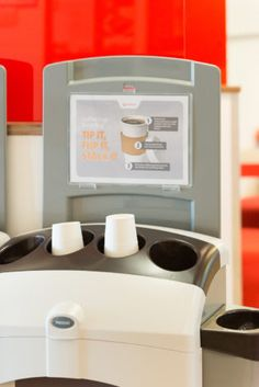 """Veolia is set to roll out its national coffee cup """"solution"""" to make cup #recycling possible in offices across the UK after finding 52% of regular takeaway hot drink consumers, those that buy at least four or more drinks a week, dispose of their cup at work. #wastenot"""
