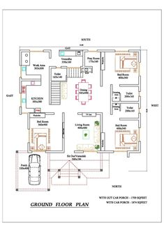 61 Ideas Home Studio Bedroom Apartment Layout For 2019 20x30 House Plans, Duplex House Plans, Family House Plans, Dream House Plans, Small House Plans, House Floor Plans, Apartment Layout, Bedroom Apartment, House Construction Plan