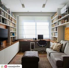 Home Office Decor Home Office Layouts, Home Office Setup, Guest Room Office, Home Office Space, Office Ideas, Home Library Design, Office Interior Design, Office Interiors, House Design