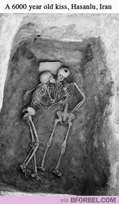A 6000 year old kiss. Haunting and cool at the same time.