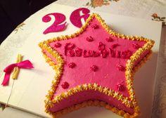 Pink and yellow star cake! :p