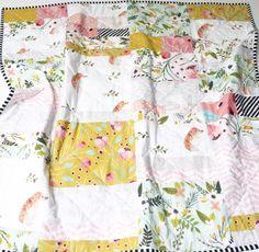 Modern handmade baby girl quilt @wildlittles