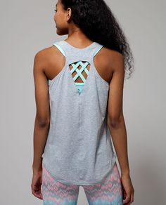 Happy Livin' Tank   Breeze through yoga, gym class and everything in between in this lightweight tank