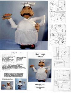 free pattern for a soft chef