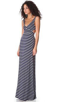 Rachel Pally Stripe Cutout Dress - Navy Stripe