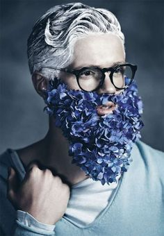 The 'Blue Beards' Manuscript Editorial is in Full Bloom #weddings trendhunter.com