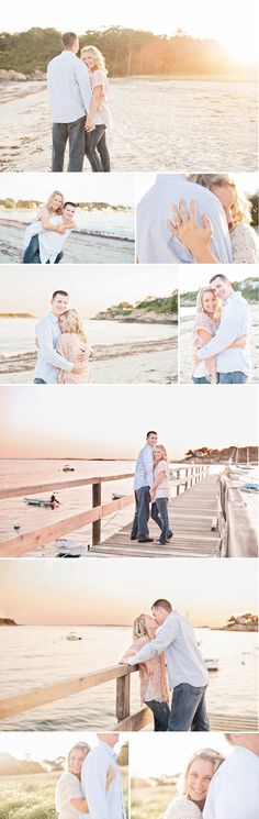 Engagement pictures at the beach - photography,   Thinking about this I want half beach and country ones lol