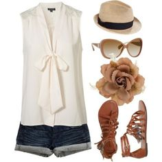 What a cute summer outfit! just no hat for me