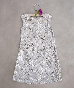 Look what I found on #zulily! Silver Clara Dress - Toddler & Girls #zulilyfinds