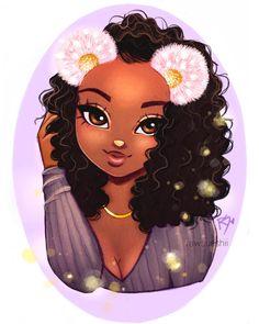 Rate this art 1 to 10 🖌🖌 via Cute Girl Drawing, Cartoon Girl Drawing, Drawing Drawing, Black Art Painting, Black Artwork, Black Love Art, Black Girl Art, Christina Lorre Drawings, Drawings Of Black Girls
