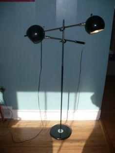 Vintage chrome mid century modern floor lamp eyeball orb for Lexington floor lamp chrome