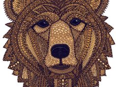 Bear Portrait by Claire Scully | Pick Me Up London