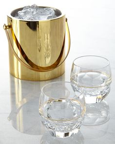 #myhenhousecelebration Elysian Ice Bucket & Rocks Glasses by Waterford at Horchow.