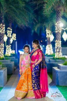 Royal Blue Saree with Pink Border