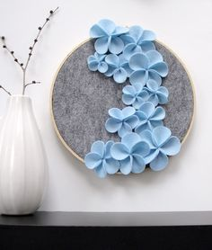 (via zlaika:jennaferfer)   Blue Cascading Flower Wall Art Dashing Inc.