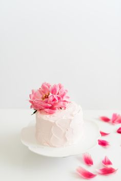 Pink Strawberry Birthday Cake