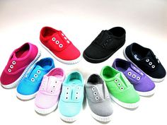 SlipOn For Baby Toddler Girls Or Boys Canvas Shoes Sizes 4 5 6 7 8 9  #Ositos #CasualShoes