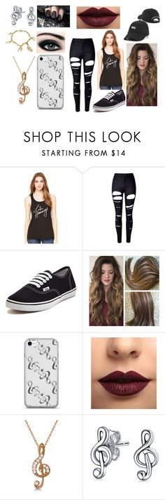 """""""Luke Hemmings"""" by venessa111551 on Polyvore featuring WithChic, Vans, LASplash, Max Factor, Allurez and Bling Jewelry"""